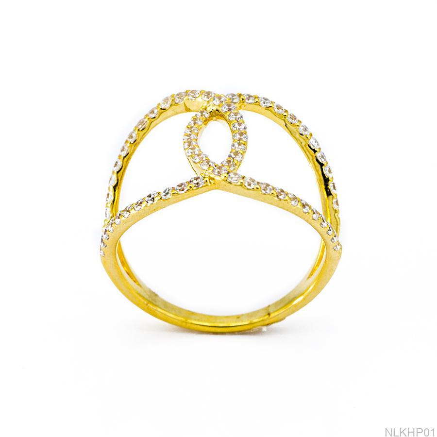 Nhẫn Nữ Vàng 18K Đính Đá CZ - NLKHP01