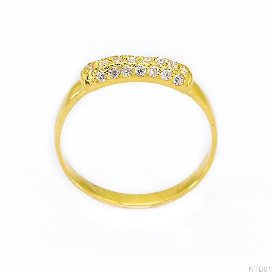 Nhẫn Nữ Vàng 18K Đính Đá CZ - NTD01