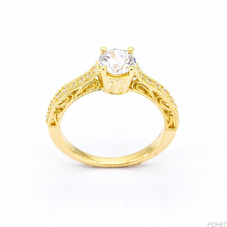Nhẫn Nữ Vàng 18K Đính Đá CZ - PDH87