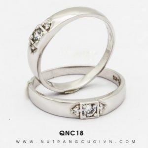 Nhẫn Cưới Vàng Trắng APJ Vàng 10k - QNC18