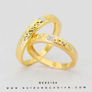 Nhẫn Cưới Vàng APJ Vàng 18k - NCK2104
