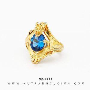 Nhẫn Rồng vàng ôm ngọc N2.0014