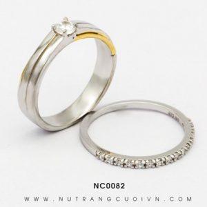 Nhẫn Cưới Vàng Trắng APJ Vàng 10k - NC0082