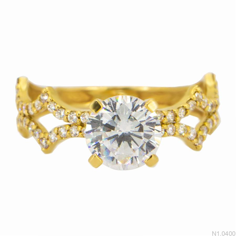 Nhẫn Kiểu Nữ APJ Vàng 18k - N1.0400