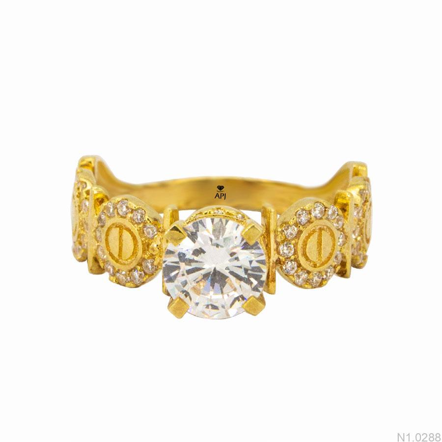 Nhẫn Kiểu Nữ APJ Vàng 18k - N1.0288