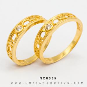 Nhẫn Cưới Vàng APJ Vàng 18k - NC0035