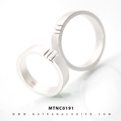 Nhẫn Cưới Vàng Trắng APJ Vàng 10k - MTNC0191
