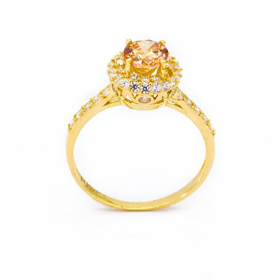 Nhẫn Nữ Vàng 18k Đính Đá Topaz - N2303-2