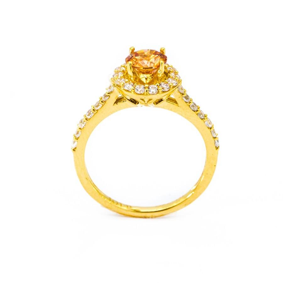 Nhẫn Nữ Vàng 18k Đính Đá Topaz - N3021-2