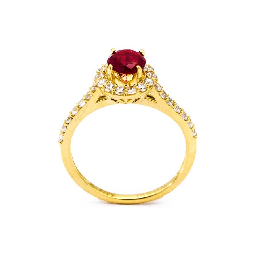 Nhẫn Nữ Vàng 18k Đính Đá Ruby - N3021-4