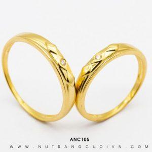 Nhẫn Cưới Vàng APJ Vàng 18k - ANC105