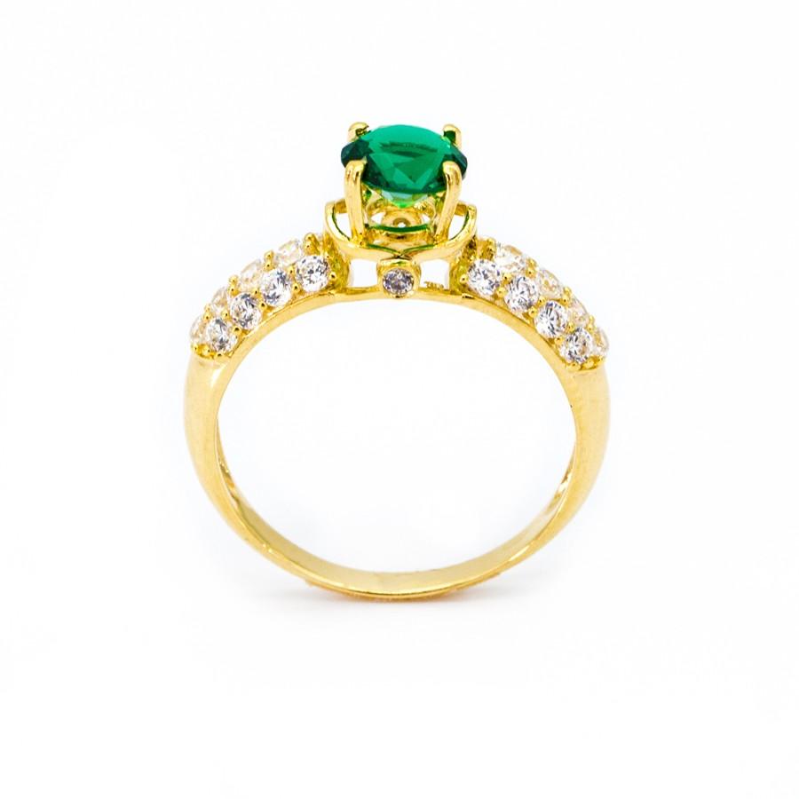 Nhẫn Nữ Vàng 18k Đính Đá Sapphire Xanh - N935-3