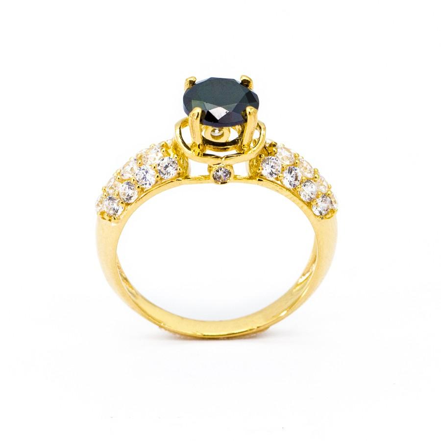 Nhẫn Nữ Vàng 18k Đính Đá Sapphire Đen - N935-1