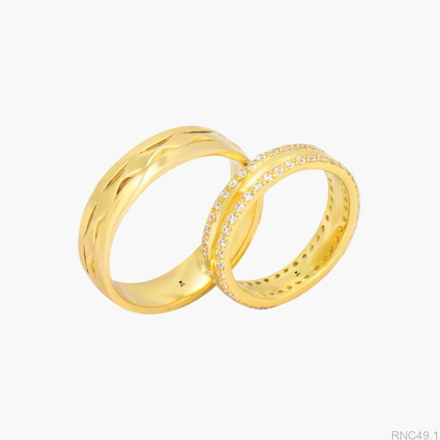 Nhẫn Cưới Vàng APJ Vàng 10k - RNC49.1