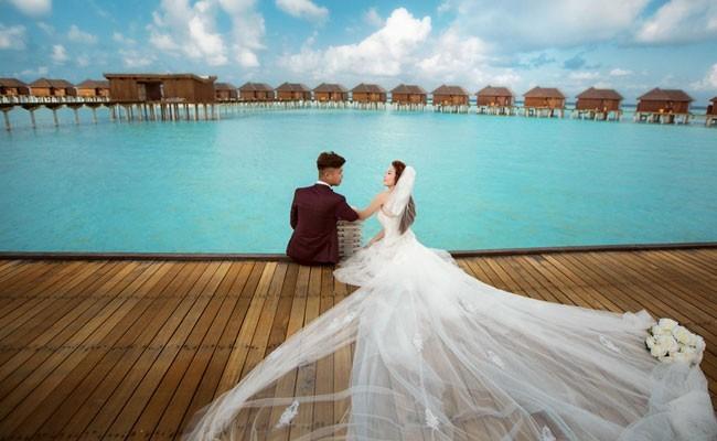 chụp hình cưới ở maldives