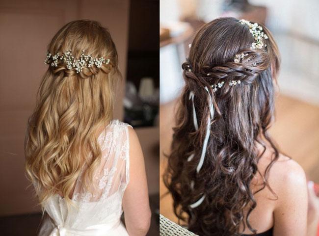 xu hướng tóc cô dâu 2019