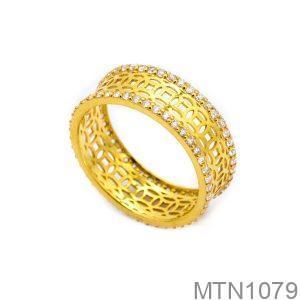 Nhẫn Nữ Vàng 10k Đính Đá CZ - MTN1079