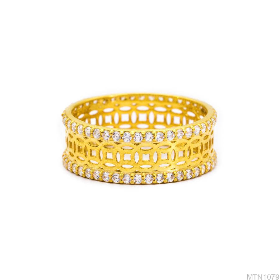 MTN1079-2 Nhẫn nữ kim tiền vàng 18k
