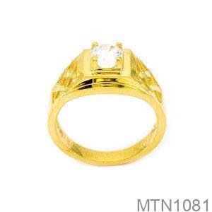 Nhẫn Nam Vàng Vàng 18k Đá Trắng - MTN1081