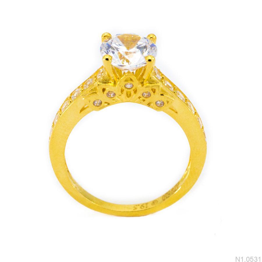 Nhẫn Nữ Vàng 18K Đính Đá CZ - N1.0531