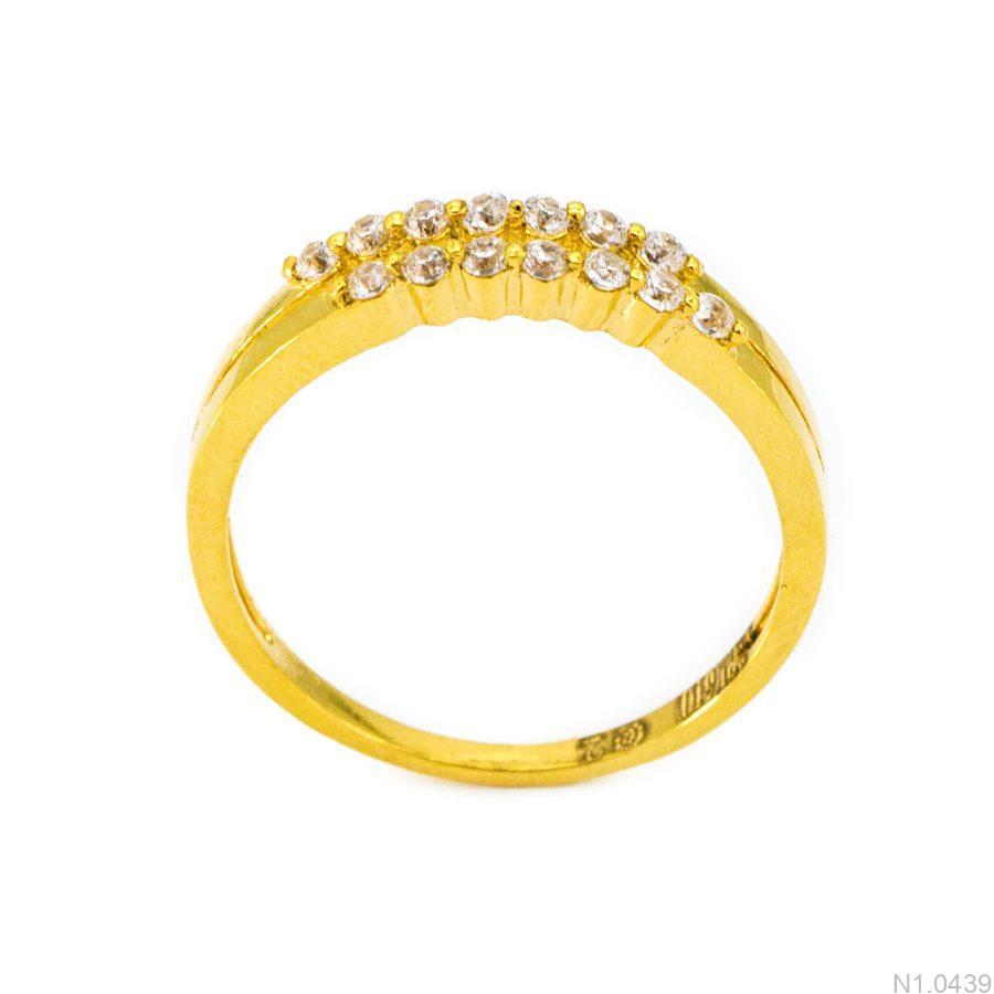 Nhẫn Nữ Vàng 18K Đính Đá CZ - N1.0439
