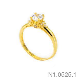 Nhẫn Nữ Vàng 18K Đính Đá CZ - N1.0525.1