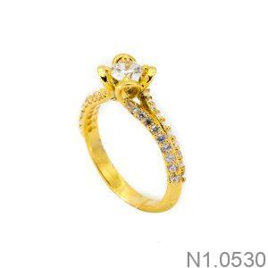 Nhẫn Nữ Vàng 18K Đính Đá CZ - N1.0530