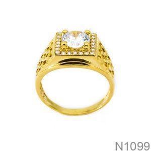 Nhẫn Nam Vàng 18k Đính Đá CZ - N1099