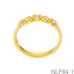 Nhẫn Nữ Vàng 18K Đính Đá CZ - NLF64.1