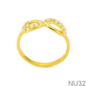 Nhẫn Nữ Vàng 18K Đính Đá CZ - NU32
