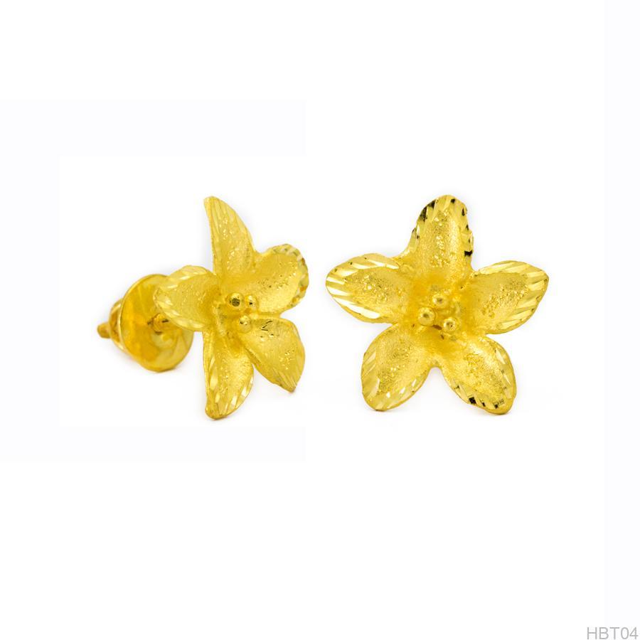 Hoa bông tai cưới vàng 24k apj HBT04