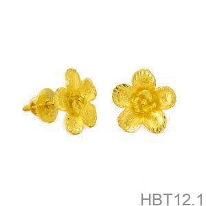 Bông Tai Cưới Vàng 24K - HBT12.1