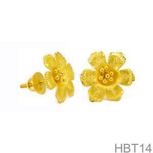 Bông Tai Cưới Vàng 24K - HBT14