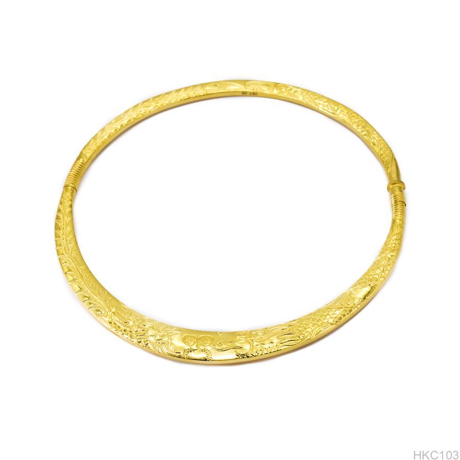 kiềng cổ cưới vàng 24k hkc103