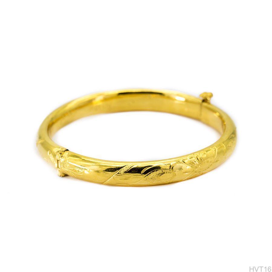 Vòng tay cưới vàng 24k APJ HVT16-2