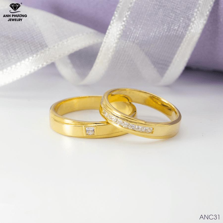 nhẫn cưới đơn giản sang trọng