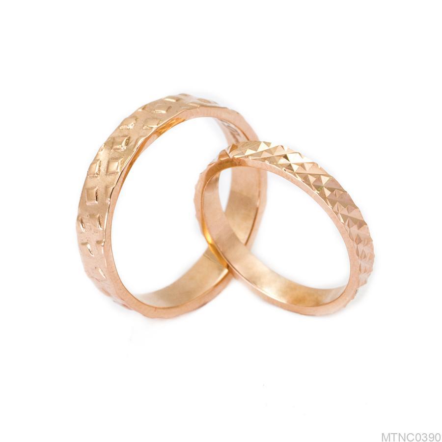 Nhẫn cưới vàng hồng MTNC0390-1