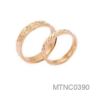 Nhẫn Cưới Vàng Hồng 18K - MTNC0390