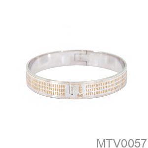 Vòng Tay Chú Đại Bi Vàng Trắng 18k - MTV0057