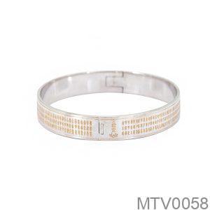 Vòng Tay Chú Đại Bi Vàng Trắng 18k - MTV0058