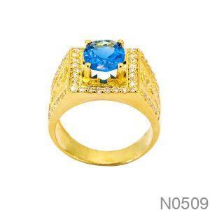 Nhẫn Nam Vàng 18k Đính Đá CZ - N0509