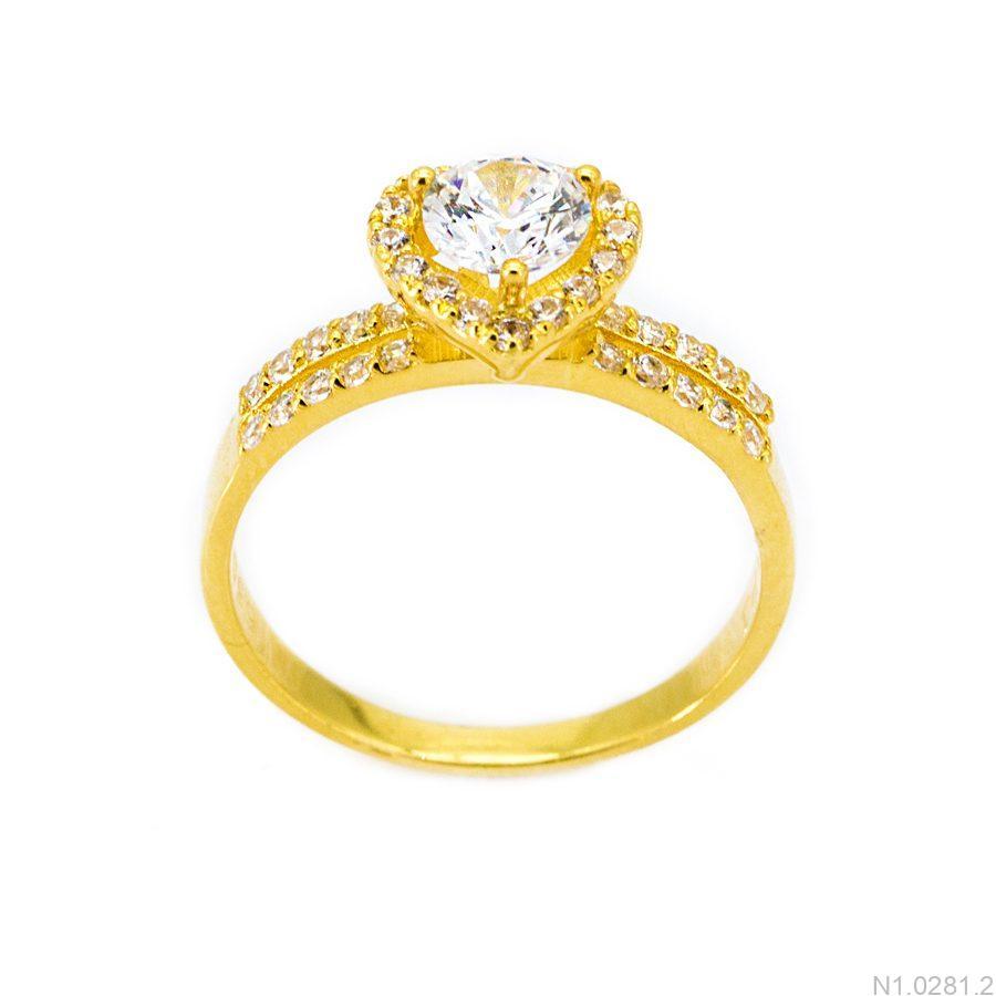 Nhẫn Nữ Vàng 18K Đính Đá CZ - N1.0281.2