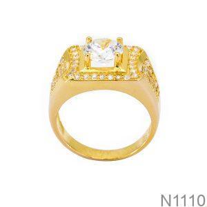 Nhẫn Nam Vàng 18k Đính Đá CZ - N1110