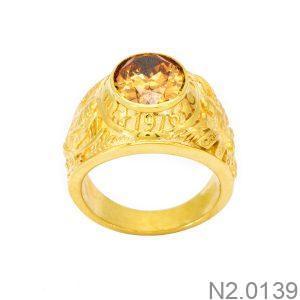 Nhẫn Nam Vàng 18k Đính Đá CZ - N2.0139