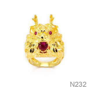 Nhẫn Nam Rồng Vàng 18k - N232