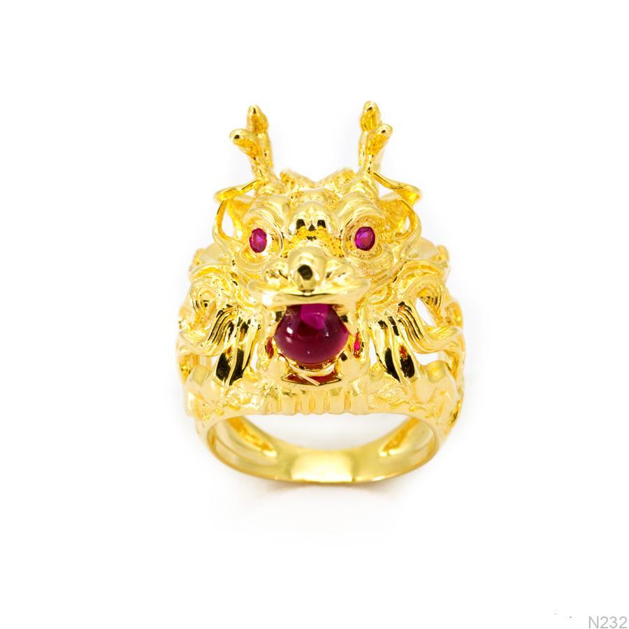 Nhẫn Nam Rồng Vàng Vàng 18k - N232