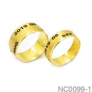 Nhẫn Cưới Vàng Vàng 10K - NC0099-1