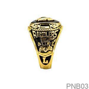 Nhẫn Mỹ Vàng Vàng 10k Đá Đen - PNB03