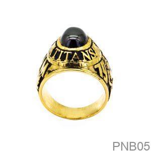 Nhẫn Mỹ Vàng Vàng 10k Đá Đen - PNB05