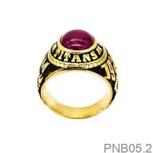 Nhẫn Nam Vàng Vàng 10k - PNB05.2